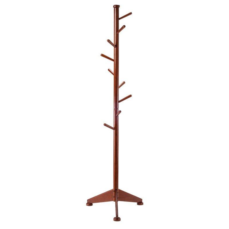 Winsome Wood Lily Coat Tree 9 Pegs Walnut in Walnut