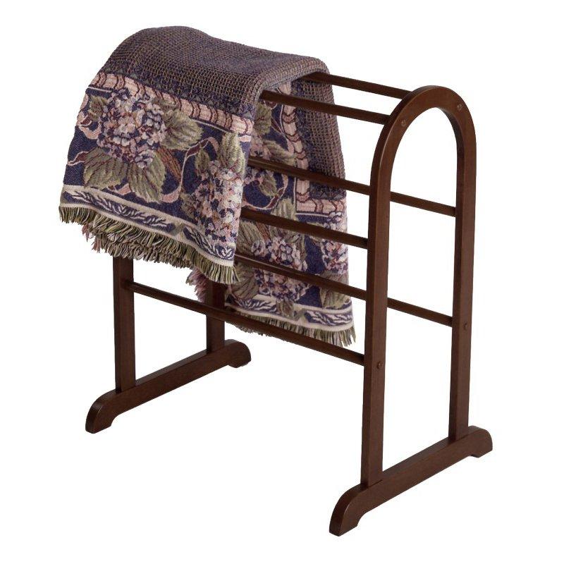 Winsome Wood Quilt Rack Closet Organizer in Antique Walnut