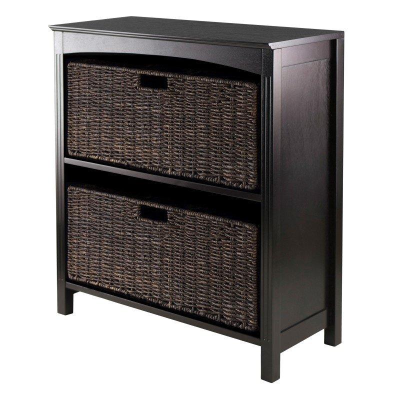 Winsome Wood Terrace 3-Piece Storage 3-Tier Shelf in Dark Espresso