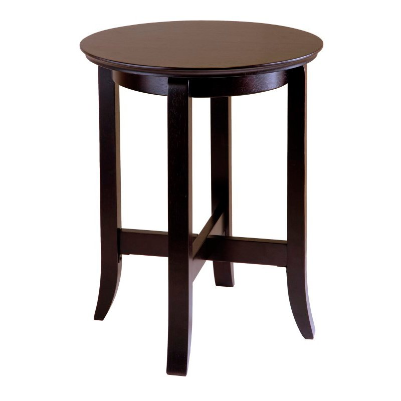 Winsome Wood Toby End Table in Dark Espresso Finish