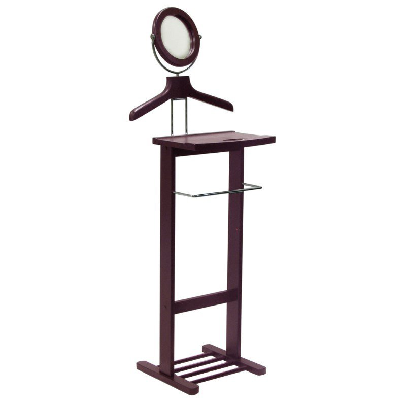 Winsome Wood Valet Stand with Mirror in Espresso Beechwood