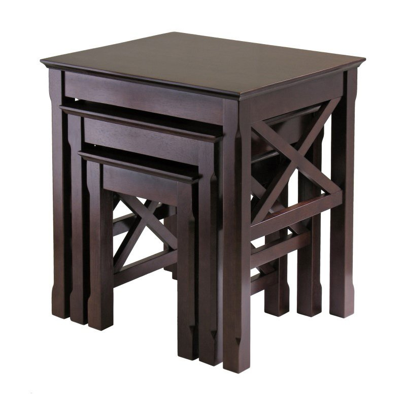 Winsome Wood Xola Nesting Table Set in Cappuccino Finish
