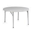 "Work Smart 48"" Round Fold in Half Resin Multi Purpose Table"