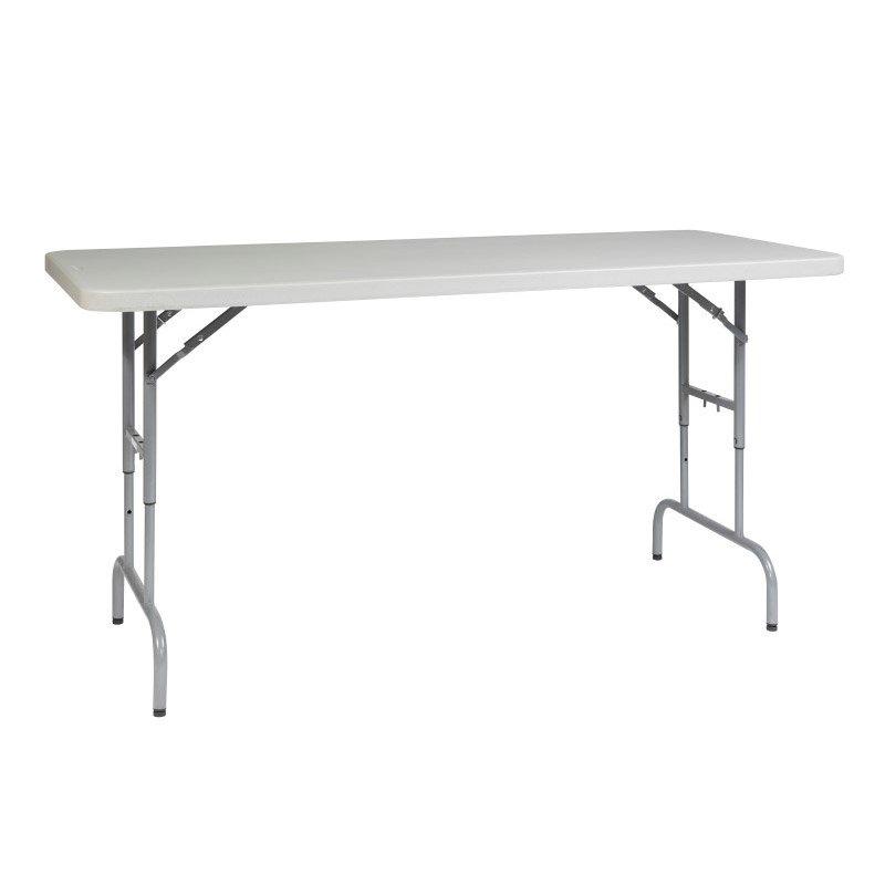 Work Smart 6' Height Adjustable Resin Multi Purpose Table