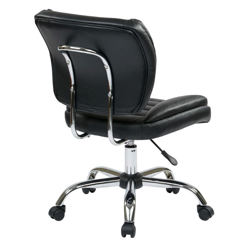 Work Smart Armless Task Chair in Black