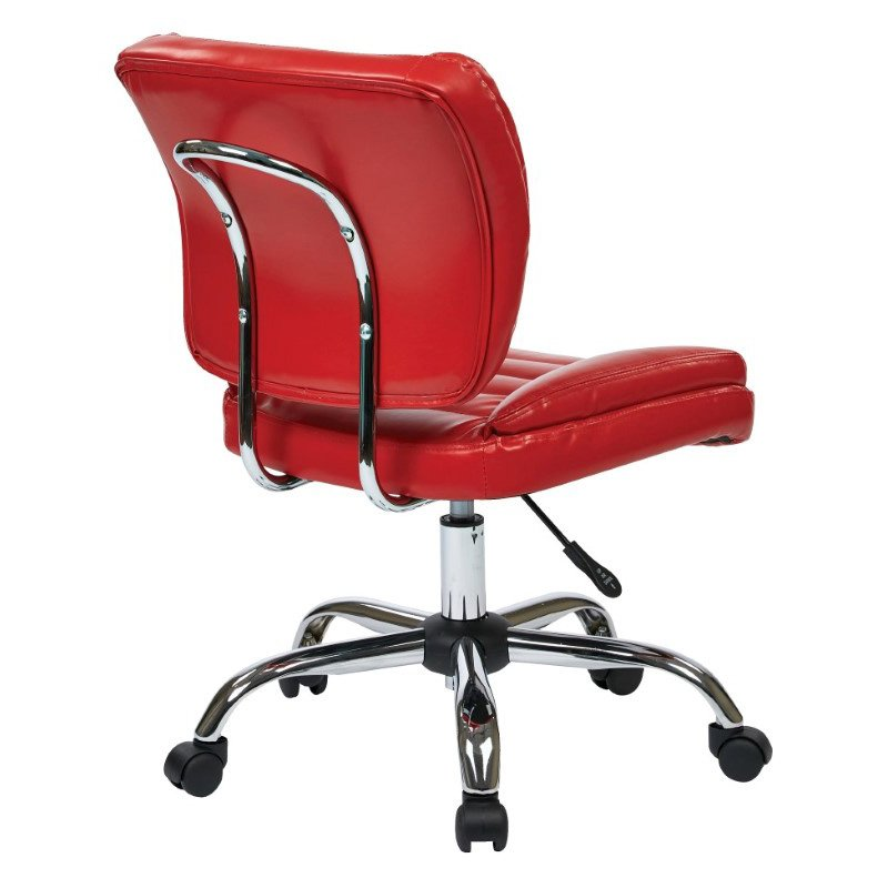 Work Smart Armless Task Chair in Red