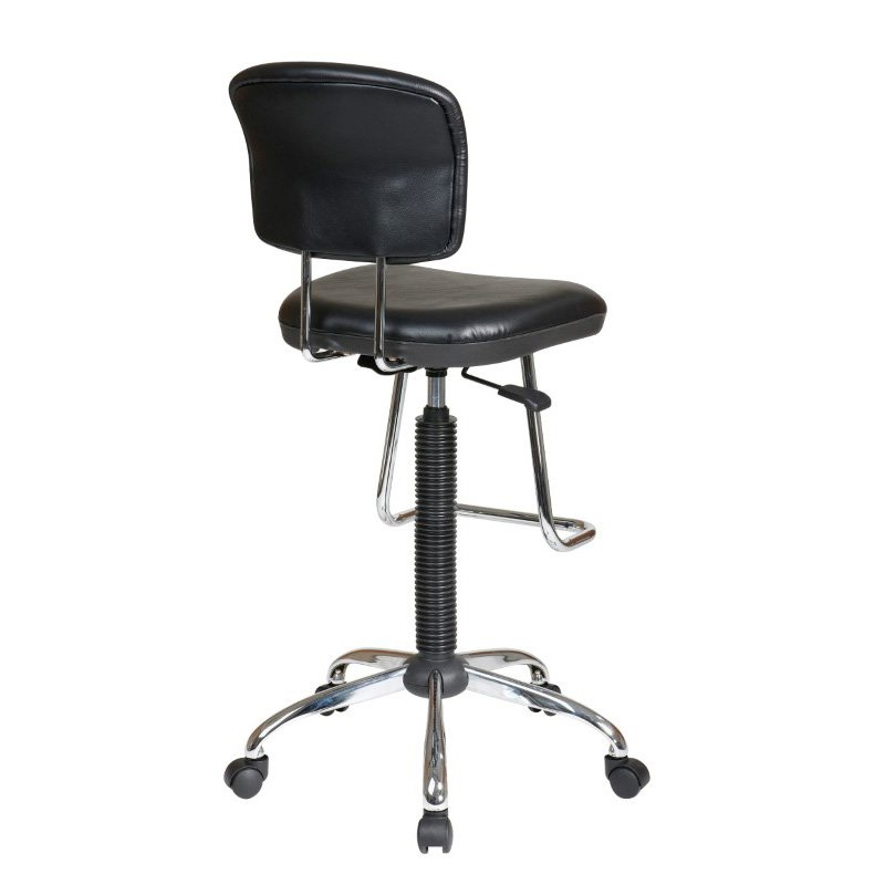 Work Smart Chrome Finish Economical Chair with Teardrop Footrest