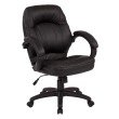 Work Smart Deluxe Black Managers Chair with Padded Arms