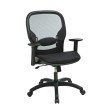 Work Smart Deluxe Screen Back Mesh Seat Chair with Height Adjustable Arms and Nylon Base