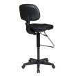 Work Smart Economical Chair with Chrome Teardrop Footrest