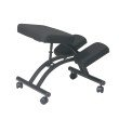Work Smart Ergonomically Designed Knee Chair Featuring Memory Foam and Coal fabric with Dual Wheel Carpet Casters