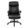 Work Smart Executive Bonded Leather Chair in Cocoa and Espresso Finish