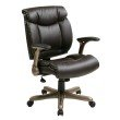 Work Smart Executive Bonded Leather Chair in Cocoa in Espresso