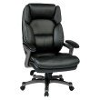 Work Smart Executive Bonded Leather Chair in Titanium and Black