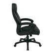 Work Smart Executive High Back Black Bonded Leather Chair with Locking Tilt Control and Color Match Stitching