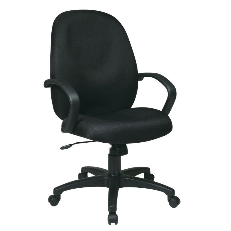 Work Smart Executive High Back Managers Chair with Fabric Back