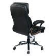 Work Smart High Back Executive Faux Leather Chair with Padded Arms