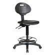 Work Smart Intermediate Ergonomic Drafting Chair with Adjustable Footrest