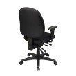 Work Smart Mid Back Multi Function Ergonomics Chair with Ratchet Back' Seat Slider and 2-way Adjustable Arms