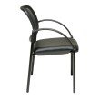 Work Smart Screen Back and Faux Leather Seat Visitors Chair with Arms