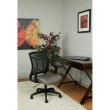 Work Smart Screen Back Chair with Mesh Seat with Height Adjustable Arms in Grey