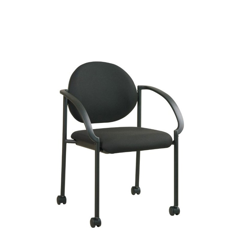 Work Smart Stack Chairs with Casters and Arms