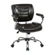Work Smart Task Chair Faux Leather in Espresso