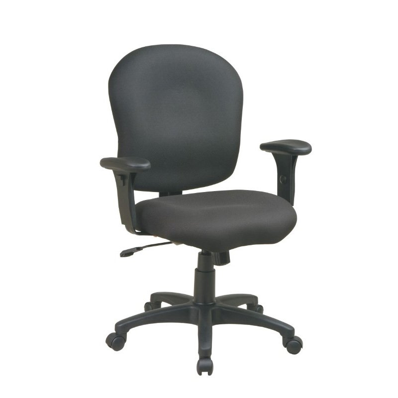 Work Smart Task Chair with Saddle Seat and Adjustable Soft Padded Arms