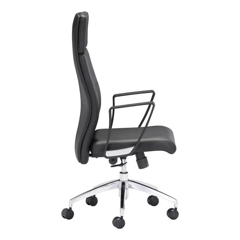 Zuo Conductor High Back Office Chair in Black