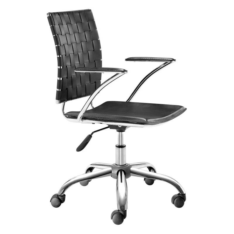 Zuo Criss Cross Office Chair in Black
