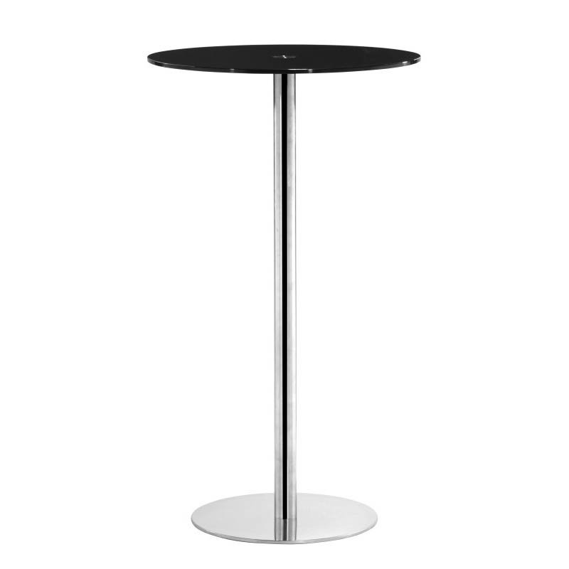 Zuo Cyclone Modern Painted Glass Bar Table in Black