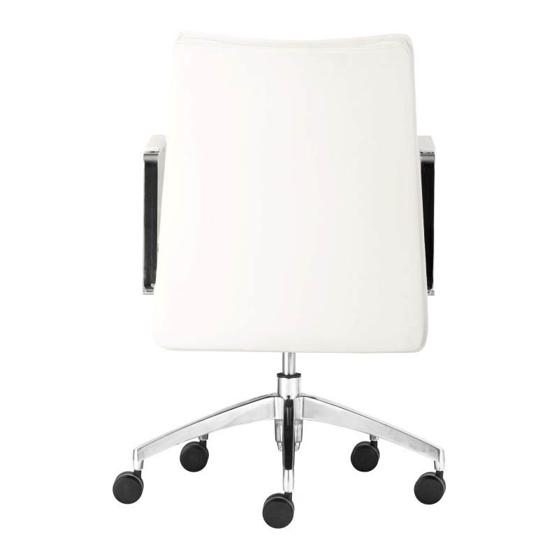 Zuo Dean Low Back Office Chair in White