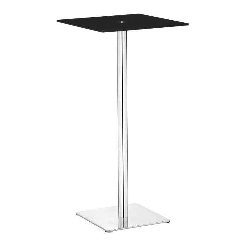 Zuo Dimensional Modern Tempered Painted Glass Bar Table in Black