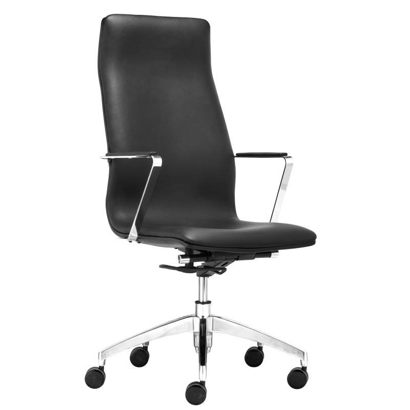 Zuo Herald High Back Office Chair in Black