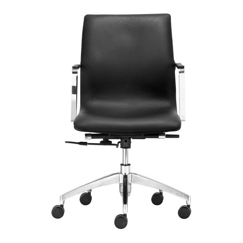 Zuo Herald Low Back Office Chair in Black