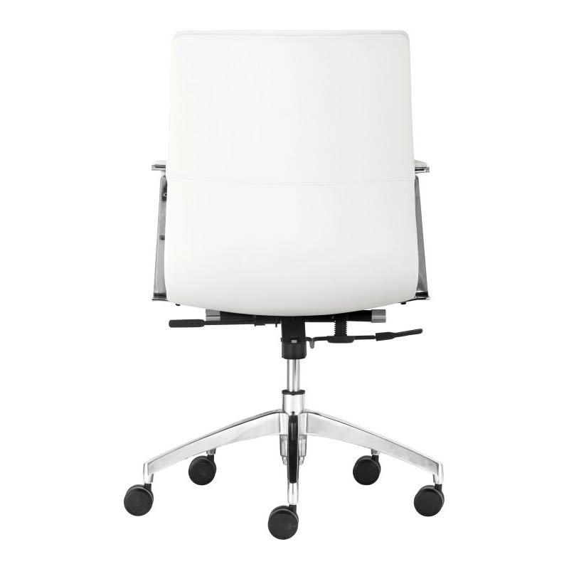 Zuo Herald Low Back Office Chair in White