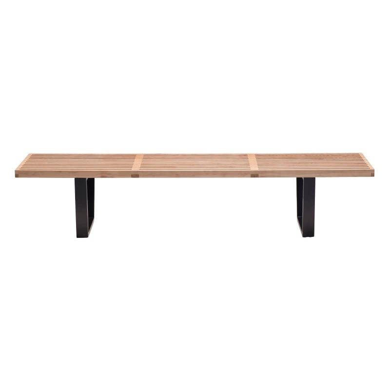Zuo HeyWood Modern Wood Triple Bench in Natural