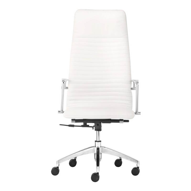 Zuo Lion High Back Office Chair in White