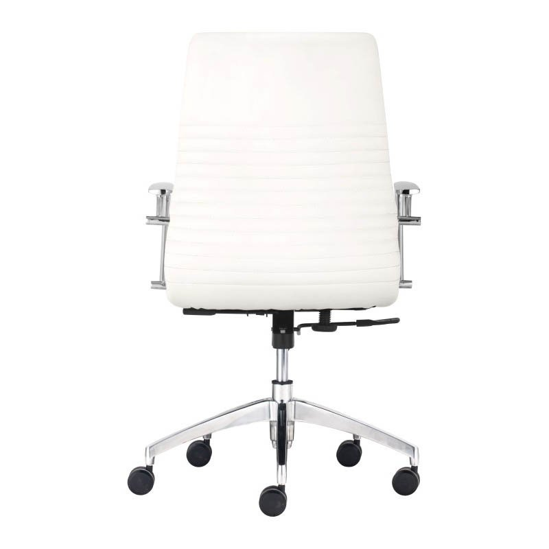 Zuo Lion Low Back Office Chair in White