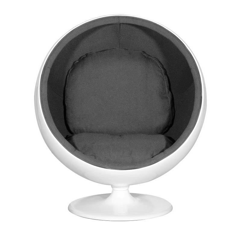 Zuo MIB Modern Fiber Glass Egg Chair in Black