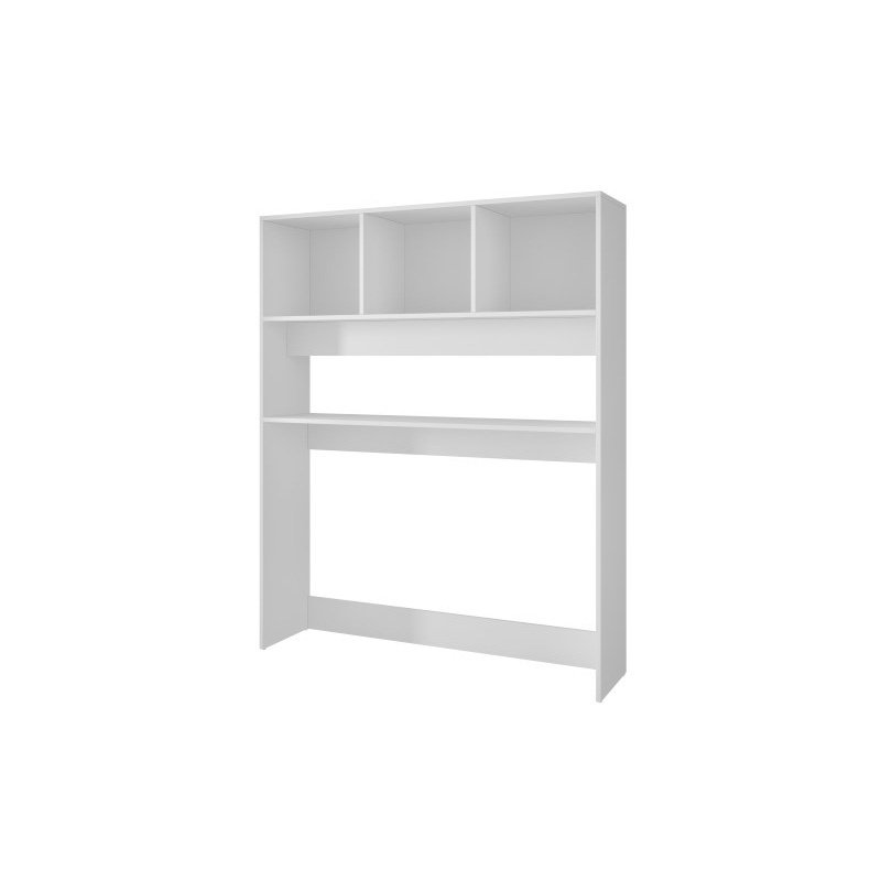 Accentuations by Manhattan Comfort Aosta Display Desk with 4 Shelves in White