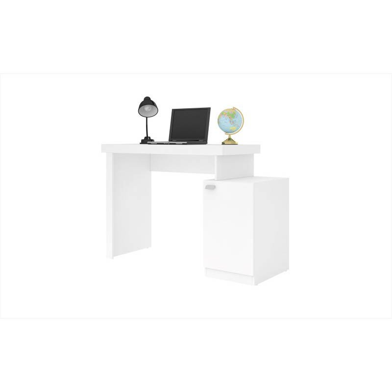Accentuations by Manhattan Comfort Bagno Level Work Desk with 1-Door and Cubby in White