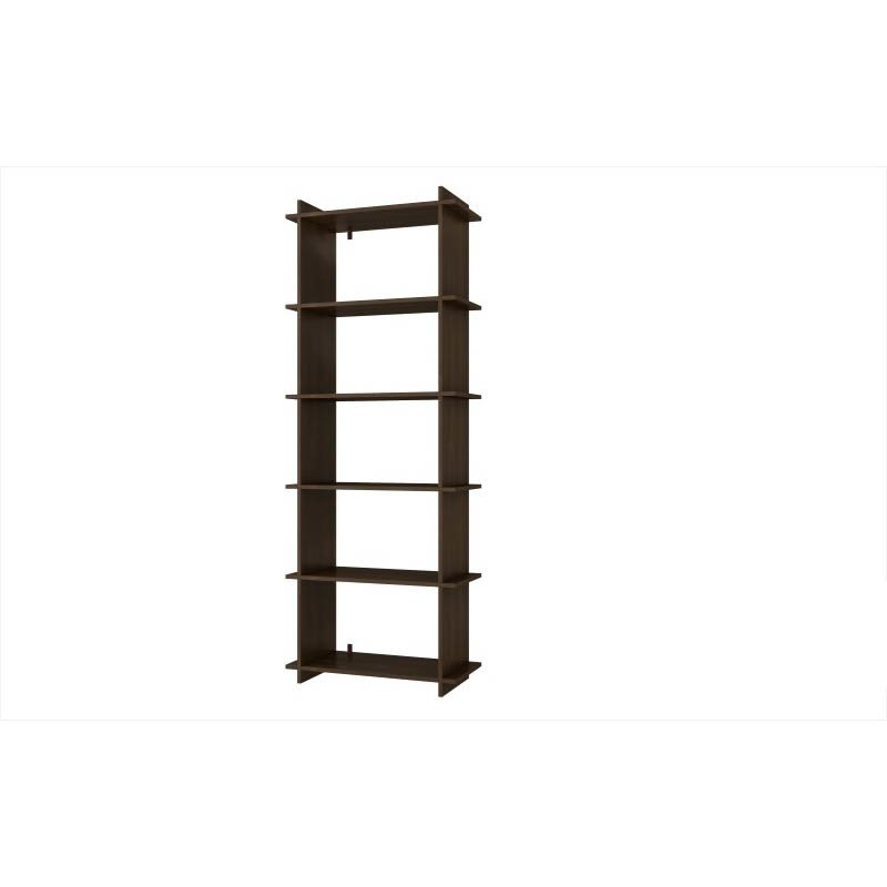 Accentuations by Manhattan Comfort Convenient Gisborne Bookcase 2.0 with 5-Shelves in Tobacco