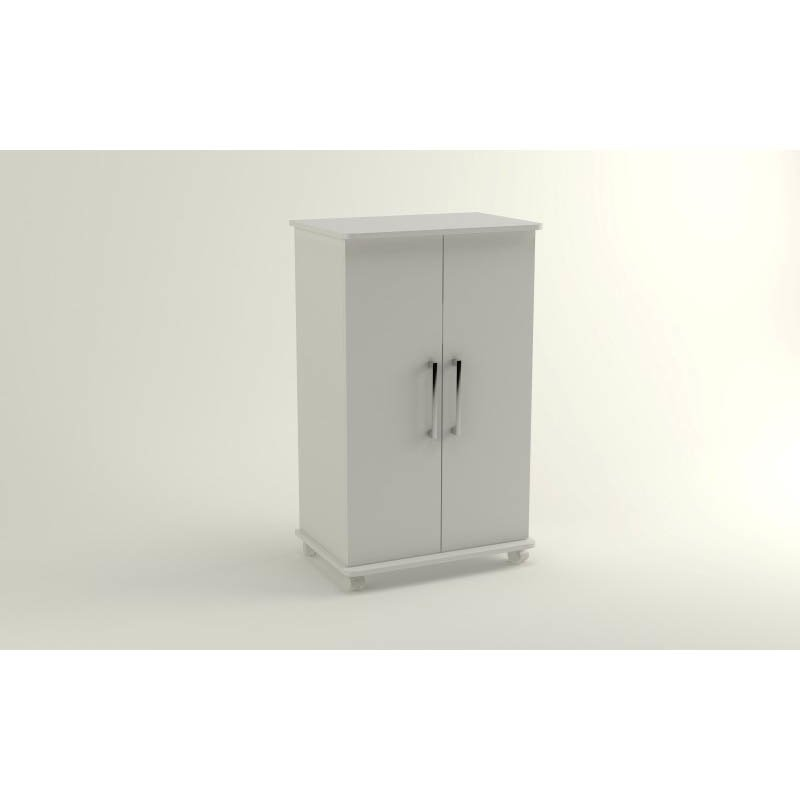 Accentuations by Manhattan Comfort Innovative Catalonia Mobile Show Closet 2.0 with 6-Shelves in White