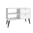 Accentuations by Manhattan Comfort Practical Dalarna TV Stand with 2 Open-Shelves and 2-Drawers in White