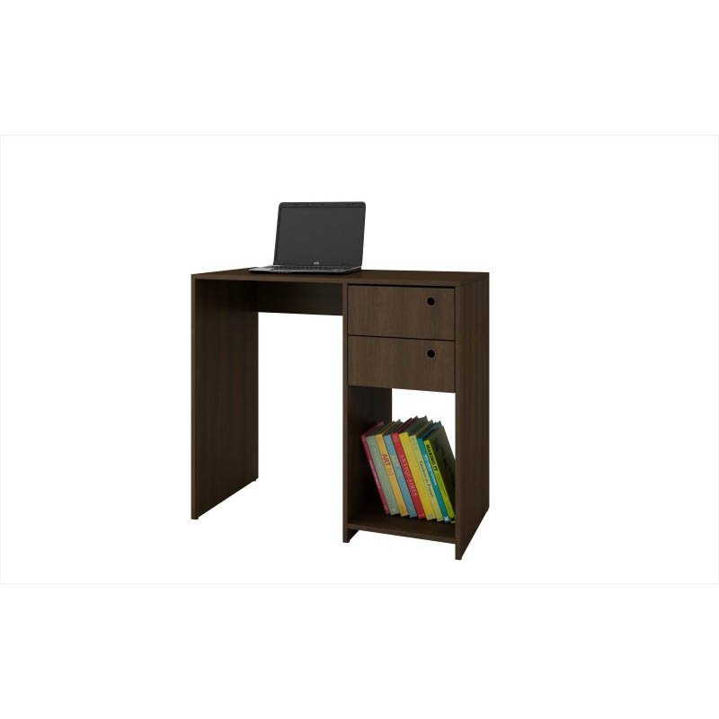 Accentuations by Manhattan Comfort Practical Pascara Work Desk with 2-Drawers and 1 Cubby in Tobacco