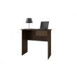Accentuations by Manhattan Comfort Simple Cosenza Work Desk with 1-Drawer in Tobacco
