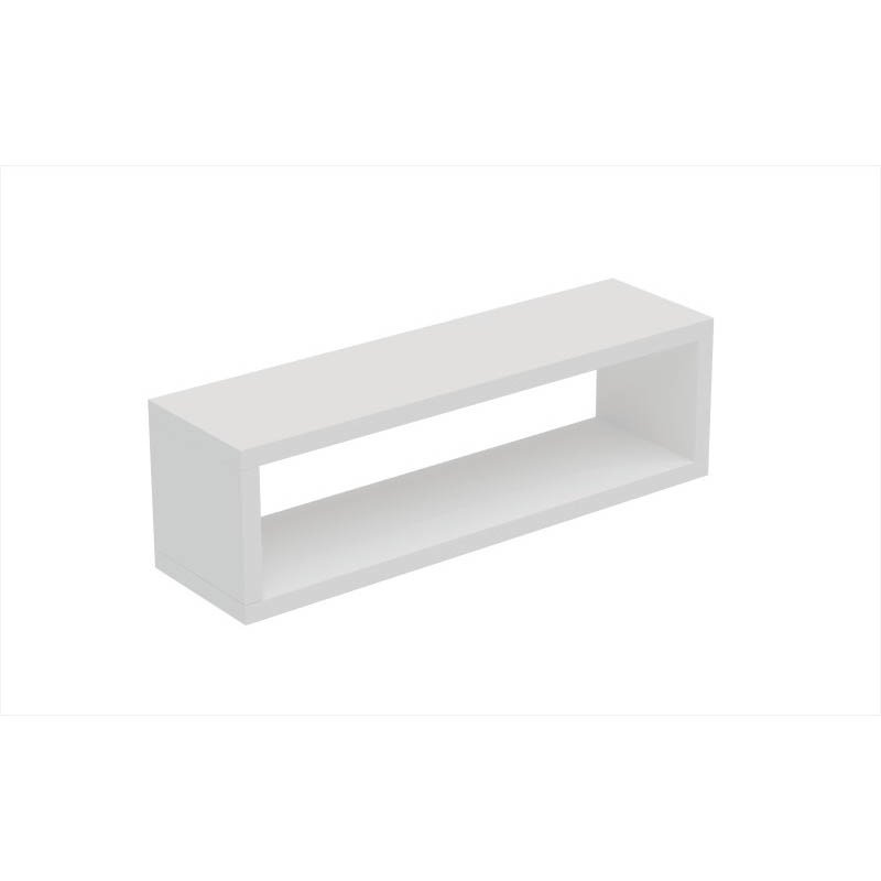 Accentuations by Manhattan Comfort Tichla Rectangle Floating Shelf 2.0 in White