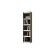 Accentuations by Manhattan Comfort Valuable Parana Bookcase 2.0 with 5-Shelves in White and Oak