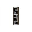 Accentuations by Manhattan Comfort Valuable Parana Bookcase 2.0 with 5-Shelves in White and Tobacco